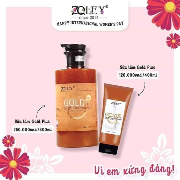 Sữa tắm Gold Plus Zoley