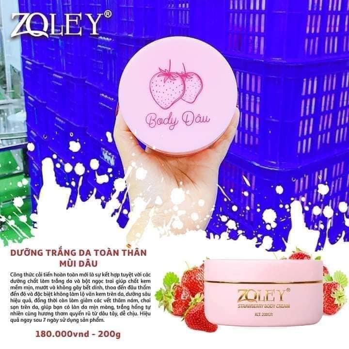 Kem body dâu Zoley - Kem body quốc dân giá rẻ cho 1 làn da trắng