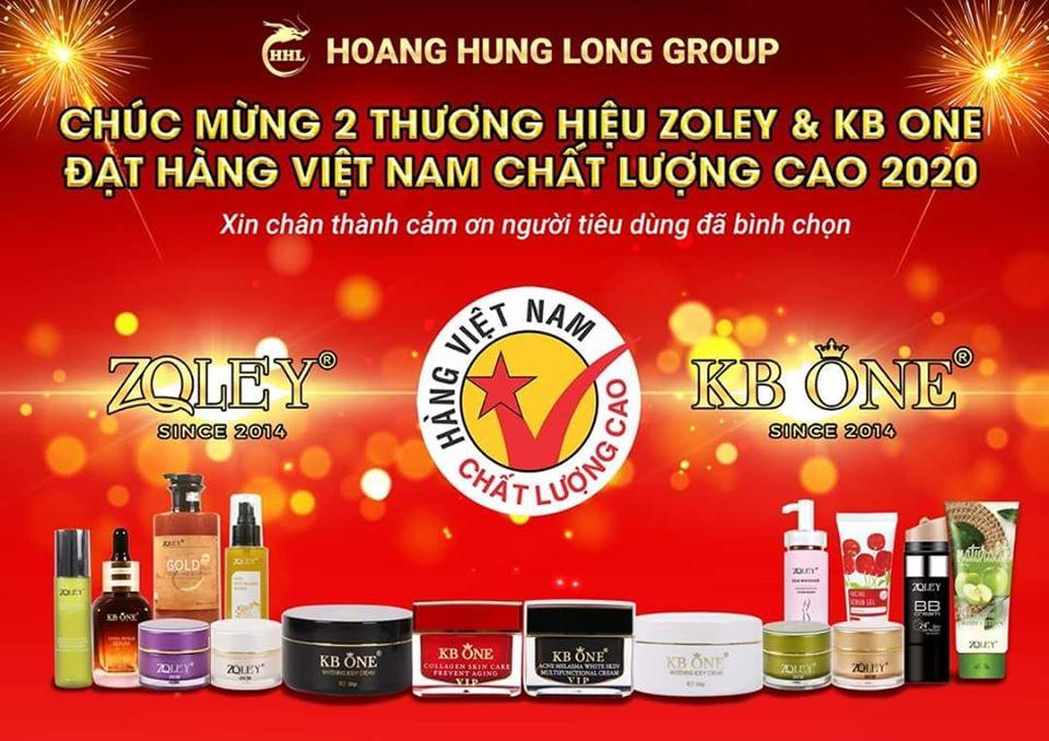 Zoley & Kb One đạt hàng Việt Nam chất lượng cao 2020